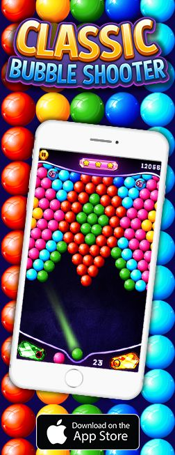 PLAY the best online bubble shooter game for free and solve all the fun puzzles. Clear all the bubbles and beat the challenges. Download now and enjoy a classic ball shooter featuring hundreds of addictive levels, smooth game mode and awesome boosts and power-ups.