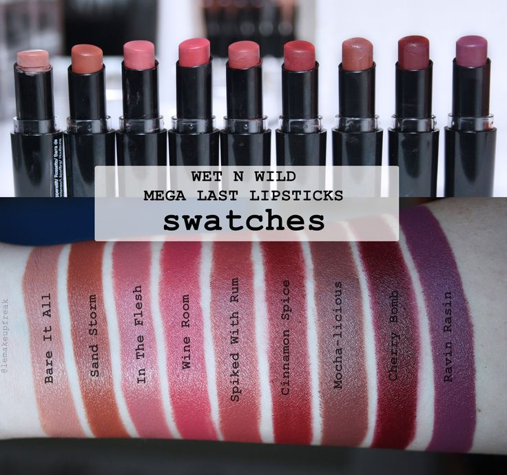 Le Makeup Freak - Makeup & Beauty: WET N WILD Mega Last Lipsticks - 17 nijansi [SWATCHES]