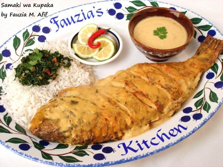 Samaki wa Kupaka (Grilled Fish in Coconut Sauce) | Fauzia's Kitchen Fun