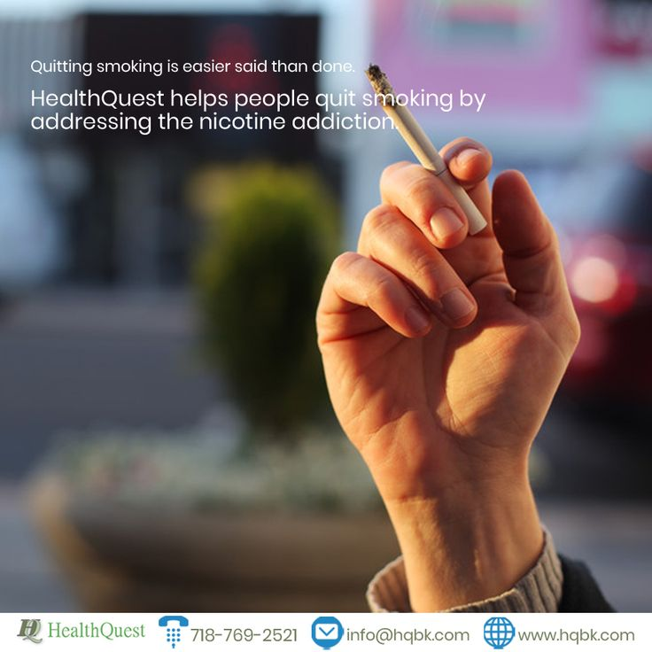#HealthQuest helps people quit smoking by addressing the nicotine addiction. #SmokingCessation
