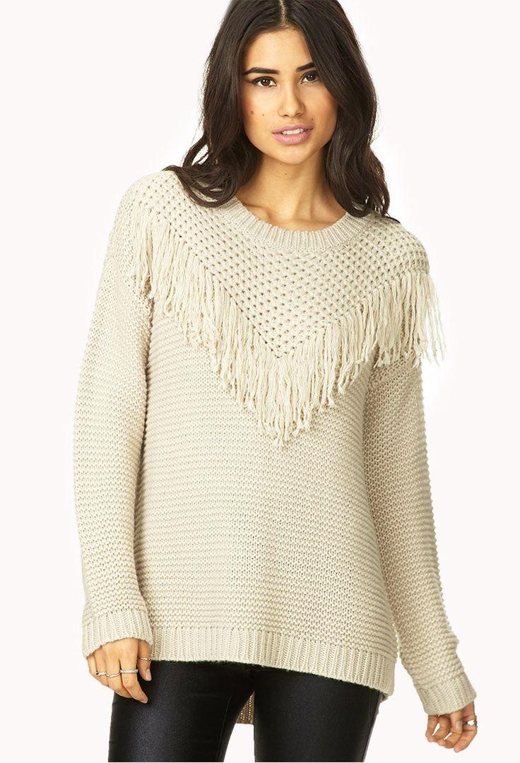 Divino Forever Xxi 21 Sweater De Lana Color Nude Flecos Ts/m - $ 397,00 en MercadoLibre