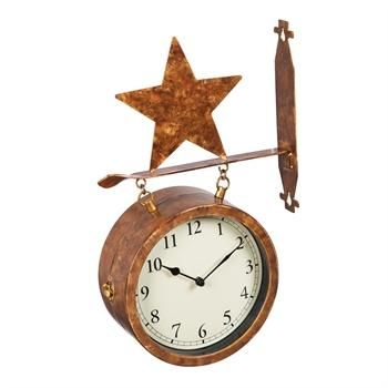 Shop Online with FREE SHIPPING!!! Don't miss this 2-Sided Outdoor W...! Find it here! http://www.hilltopwesternclothing.com/products/2-sided-outdoor-wall-clock-and-thermometer-with-star-icon?utm_campaign=social_autopilot&utm_source=pin&utm_medium=pin