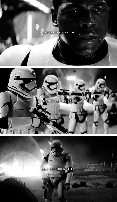 you're only good if you can do bad but choose not to #starwars