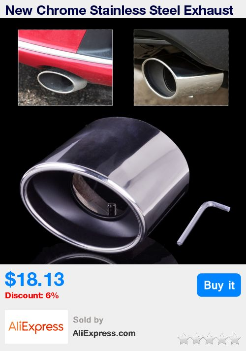 New Chrome Stainless Steel Exhaust Pipe Tail Rear Muffler Tip Pipes for Honda Accord 2.0 2.4 2008 2009 2010 2011 2012 * Pub Date: 02:11 Sep 15 2017