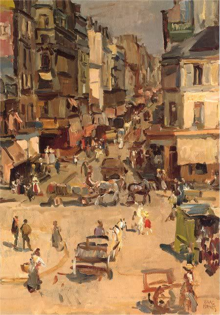 Rue de Clignancourt, Paris, Isaac Israels