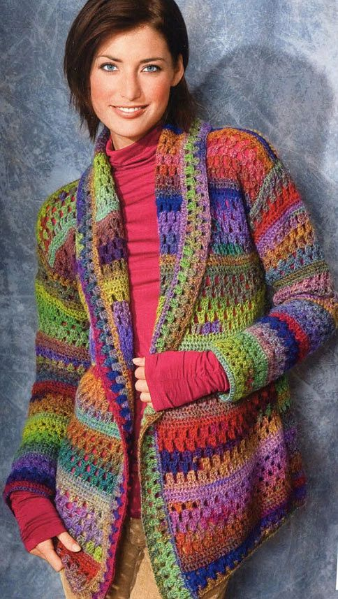 """I love this """"Crochet Jacket""""...with a chart!:"""