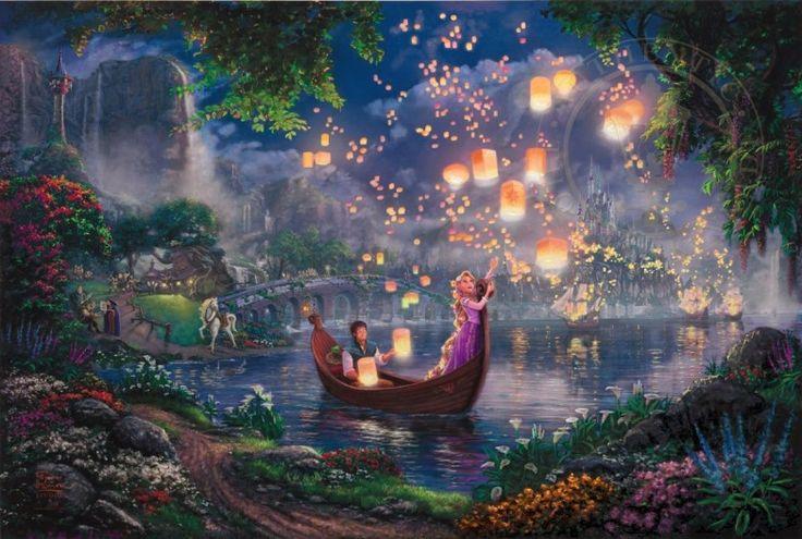 Thomas Kinkade Tangled #Kinkade #Disney