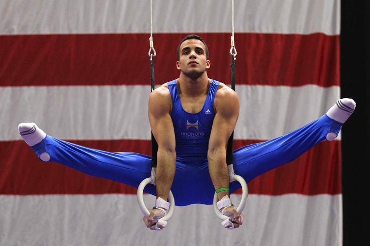 USA mens gymnast Daniel Leyva, a powerhouse for our team!