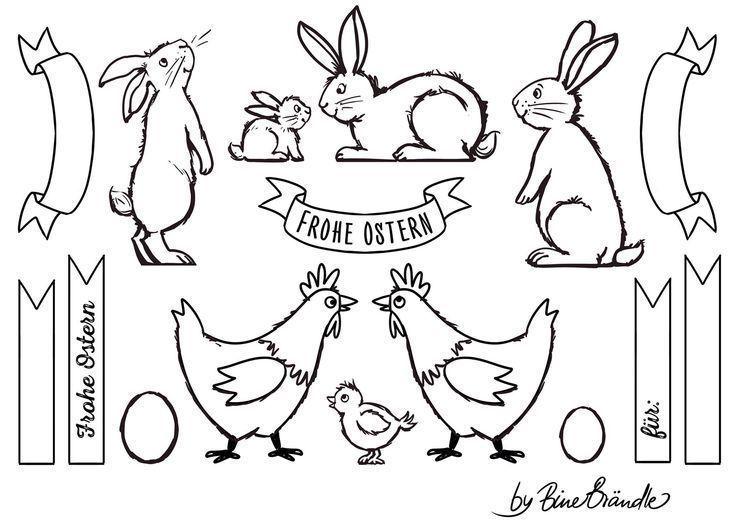 Bine Brandle Bine Brandle Frohe Ostern Ostern Malen Kreidezeichnungen