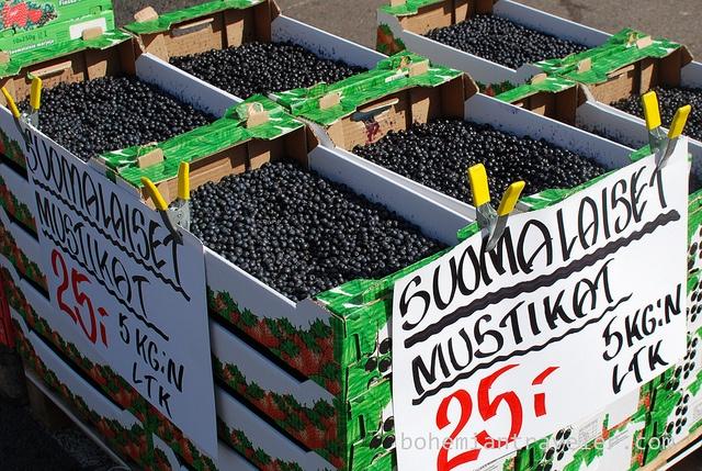 blueberries for sale in Tampere Finland by BohemianTraveler, via Flickr