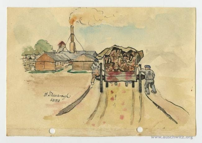 The diary made by prisoners of the German concentration camps: Auschwitz, Dachau and Mauthausen-Gusen, has been donated to the Auschwitz Memorial Site. In this unique, dozen pages notebook are drawings of camp scenes and poems.   More: http://en.auschwitz.org/m/index.php?option=com_content&task=view&id=1106&Itemid=7