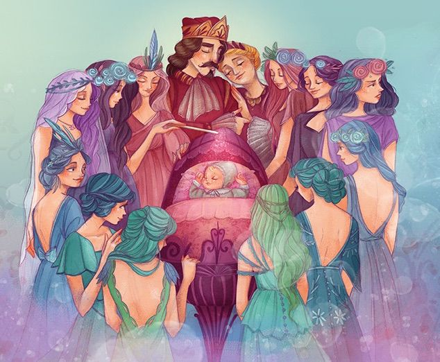Beautiful fairies surround a baby Sleeping Beauty in Storytime Issue 20. ~ STORYTIMEMAGAZINE.COM