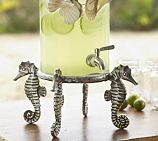 Seahorse Drink Dispenser Stand: Dispen Stands, Seahor Drinks, Beaches House, Ocean Beaches, Sea Hors, Stands Potterybarn, Beaches Bathroom, Pottery Barns, Drinks Dispenser