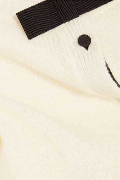 Prada - Bow-embellished Wool Cardigan - White - IT36