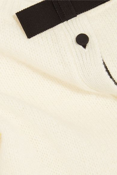 Cream wool - Button fastenings through front - 100% wool; trim: 50% cotton, 50% viscose - Dry clean - Designer color: Naturale