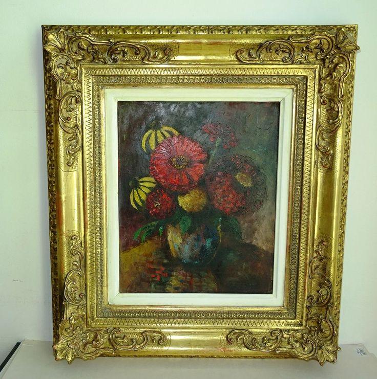 Impressionismus Vienna Artist house Müller Gertrude  Frame Flowers Blumen Wien  | eBay