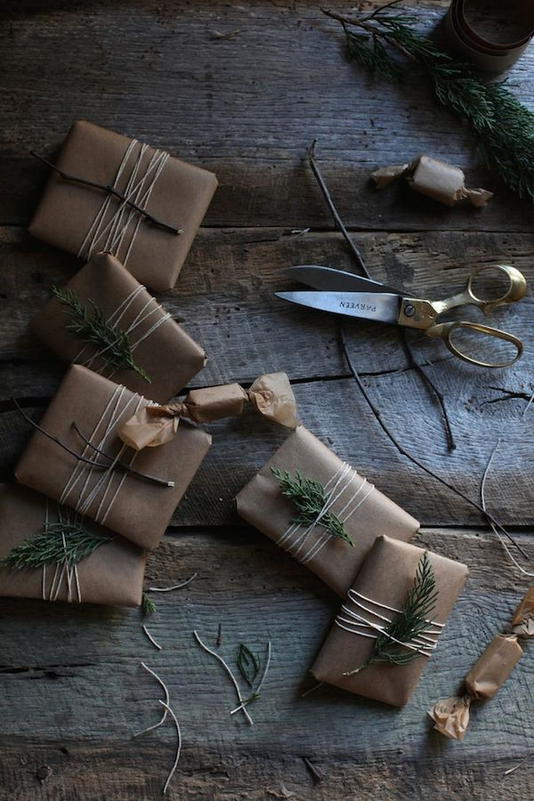 8 beautiful rustic gift wrapping ideas | my scandinavian home | Bloglovin'