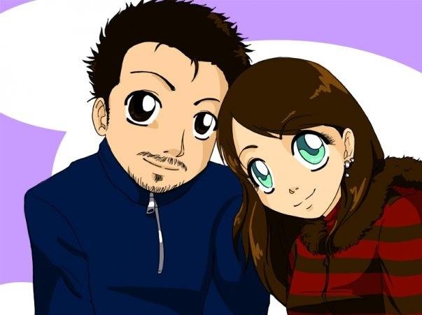Ritratto in stile Manga di coppia e a colori by Crearti.eu