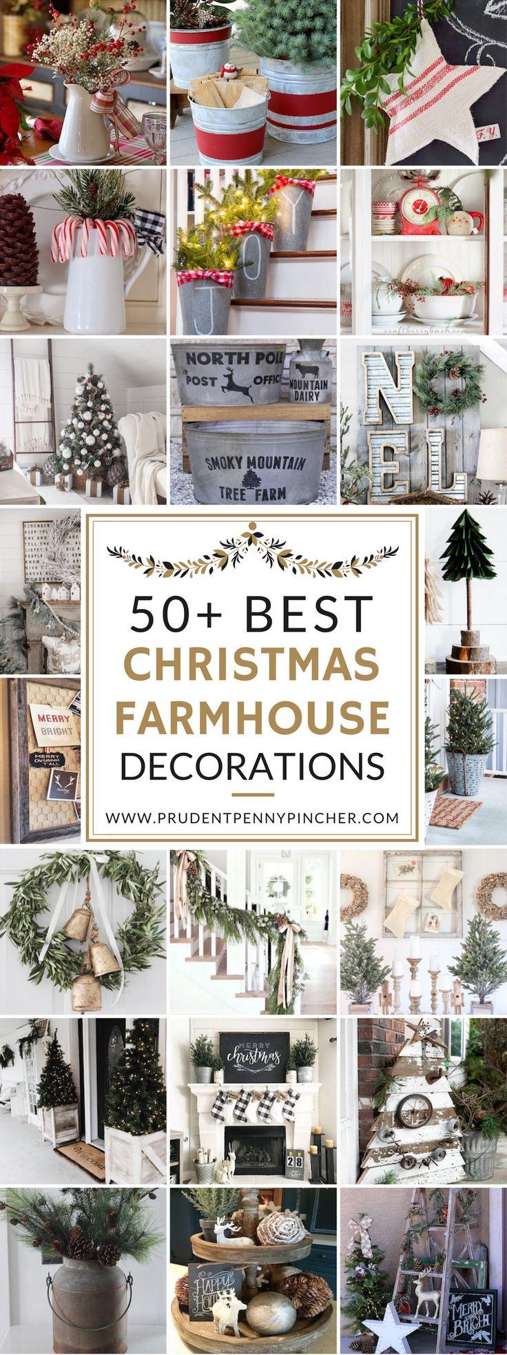 50 Farmhouse Christmas Decorations