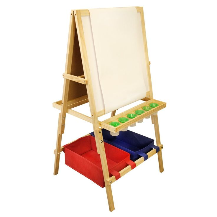 US Art Supply Cardiff Children's Art Activity Easel with Easel Paper Roll, 2 Large Storage Bins and now 6 No-Spill Child's Paint Cups and Lids - https://tryadultcoloringbooks.com/us-art-supply-cardiff-childrens-art-activity-easel-with-easel-paper-roll-2-large-storage-bins-and-now-6-no-spill-childs-paint-cups-and-lids/ - #ArtSupplies