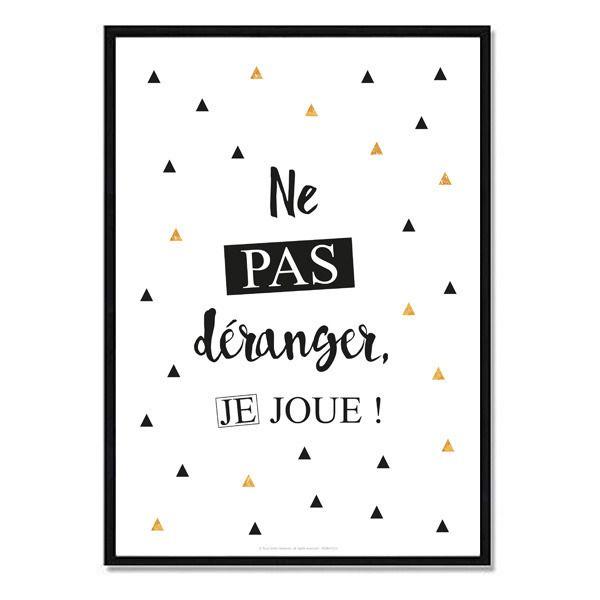 Affiche Numérique - Ne pas déranger Je joue - Format A4 : Chambre d'enfant, de bébé par affiche-rgb4you