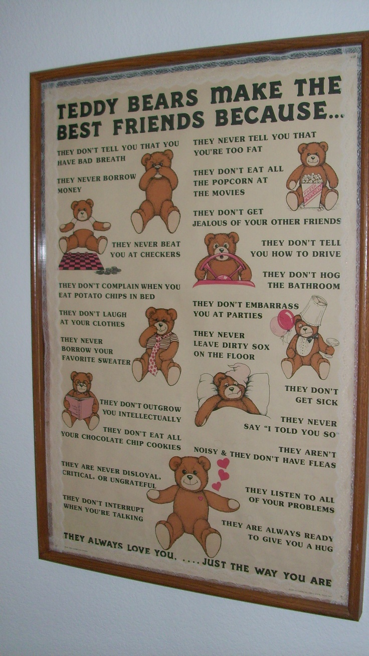 Old Teddy Bear poster...
