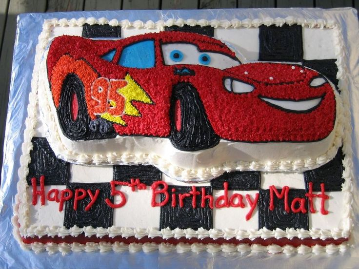 Lightning Mcqueen Cake I used the Wilton Lightning McQueen pan to make this Cars cake for my son's birthday. It's decorated with...