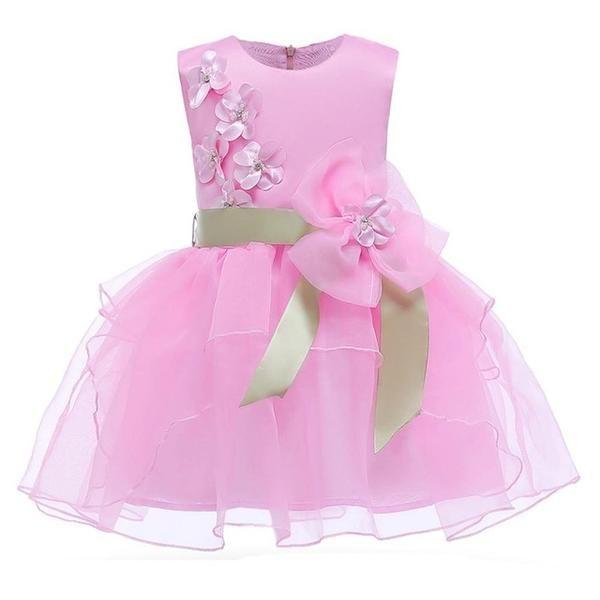399cabf825 Girls floral Princess Party Dress Children Birthday Wedding clothes ...