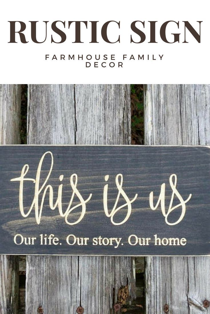 This is us wooden farmhouse sign #affiliate #farmhouse #thisisus #woodensign