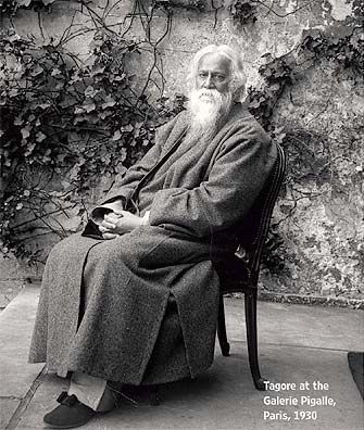 Rabindranath Tagore at the Galerie Pigalle, Paris, 1930