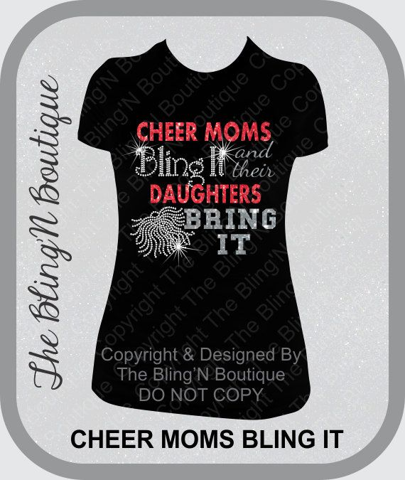Cheer Shirt Design Ideas need ideas for camp clothes add a hint of throwback with our awesome new This Is Our Original Design This Sparkly Cheer Moms Bling It And Their Daughters Bring