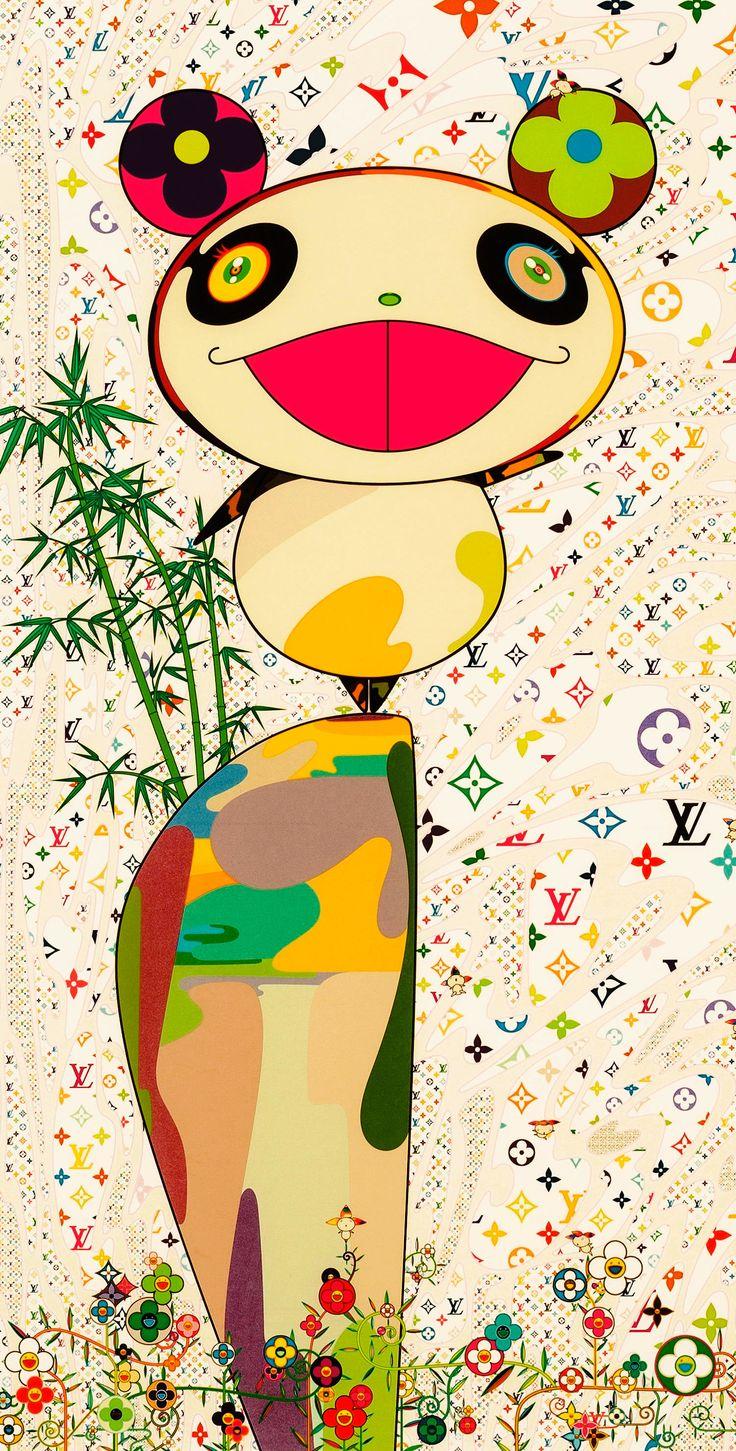 Takashi Murakami (b. 1962). Detail from Superflat Monogram: Panda and His Friends