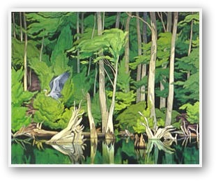 Blue Herron by AJ Casson (group of seven)