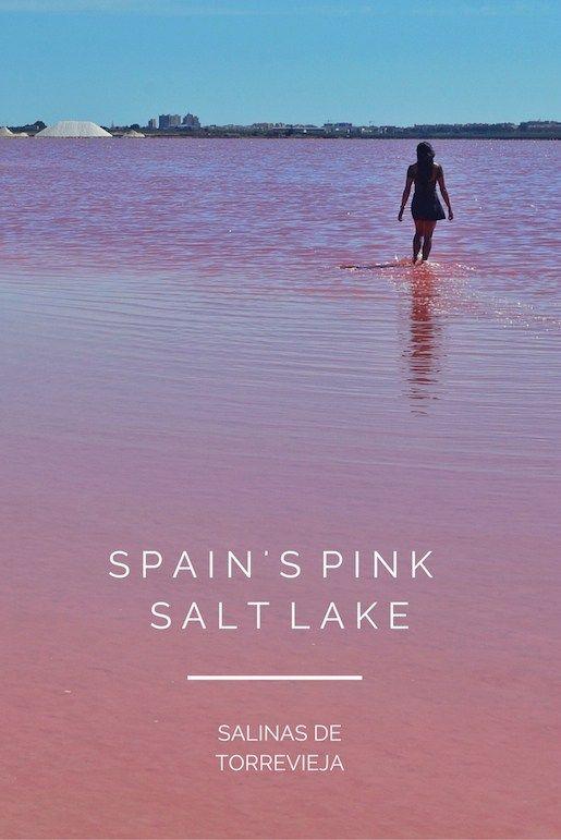 Pink Salt Lake in Spain: Salinas de Torrevieja