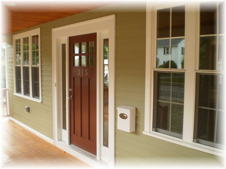 Craftsman front door with sidelights craftsman style for Front door styles