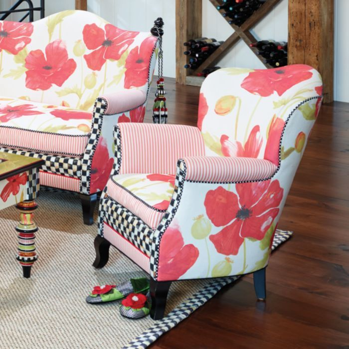MacKenzie-Childs - Poppy Parlor Chair