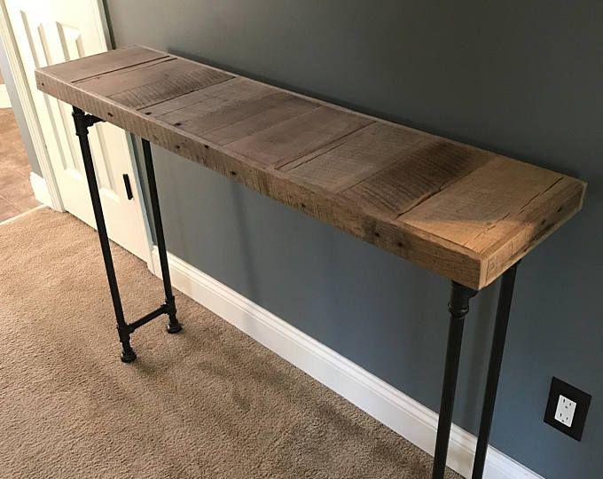 Reclaimed Barn Wood Sofa Bar Table 6ft Restaurant Counter
