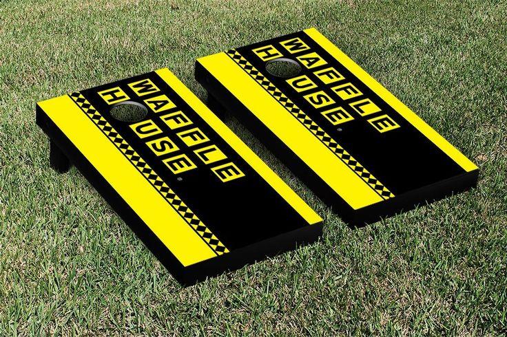 Waffle House Vertical Banner Version Cornhole Game Set