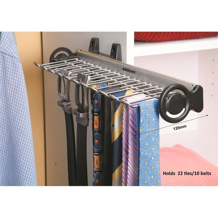Multi-store Pull Out Wardrobe Tie And Belt Rack