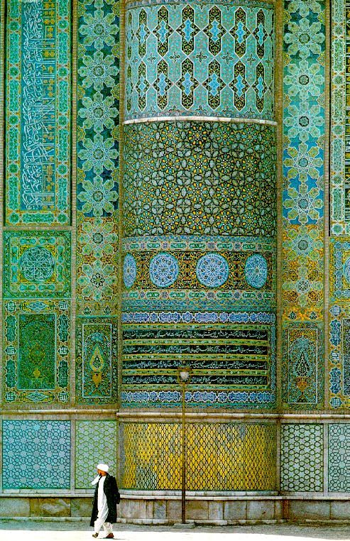 Mosque of Herat, Afghanistan.  what beautiful blue green tile