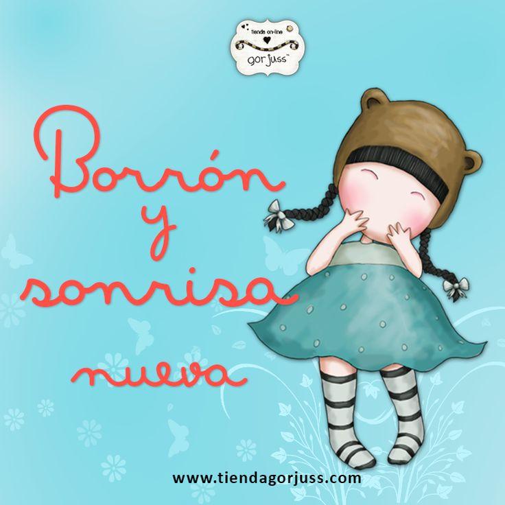 A partir de hoy... Borrón y sonrisa nueva ¡Feliz Viernes!  #gorjuss #santoro #sonrie #smile #sonrisa #felizviernes