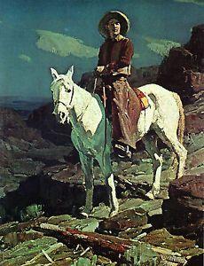 Frank Tenney Johnson http://www.ebay.com/itm/1929-FRANK-TENNEY-JOHNSON-HORSES-Cowboy-SOUTHWESTERN-ART-22-x15-Giclee-/370769737582