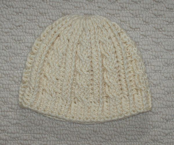 Free Cable Crochet, yes I said CROCHET, hat. This is not a beginners pattern but you do not have to be an expert either!