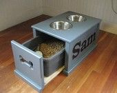Items similar to Personalized Dog feeding station. on Etsy, a global handmade and vintage marketplace.