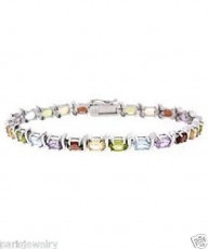 Paris Jewelry 20 Carat Genuine Ruby, Peridot, Citrine, Topaz, Amethyst, $159