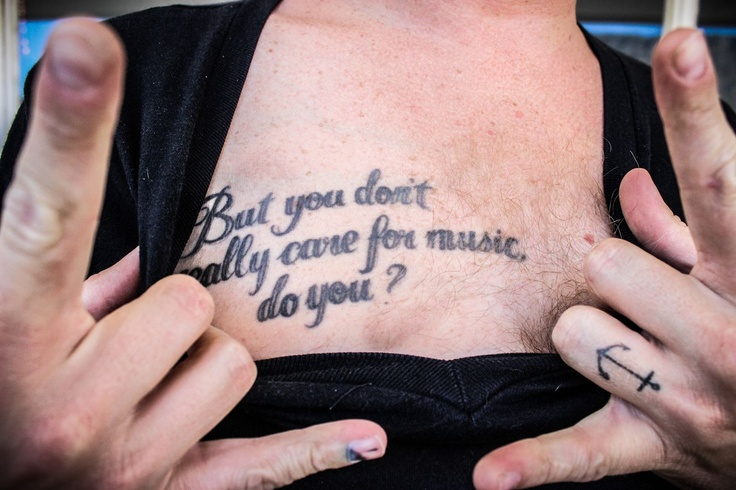 Francois van coke tattoo