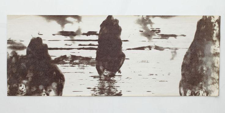 Krajina z bezčasí | termokresba - digitální tisk na plátně | 2004 | Obr.: 4/12