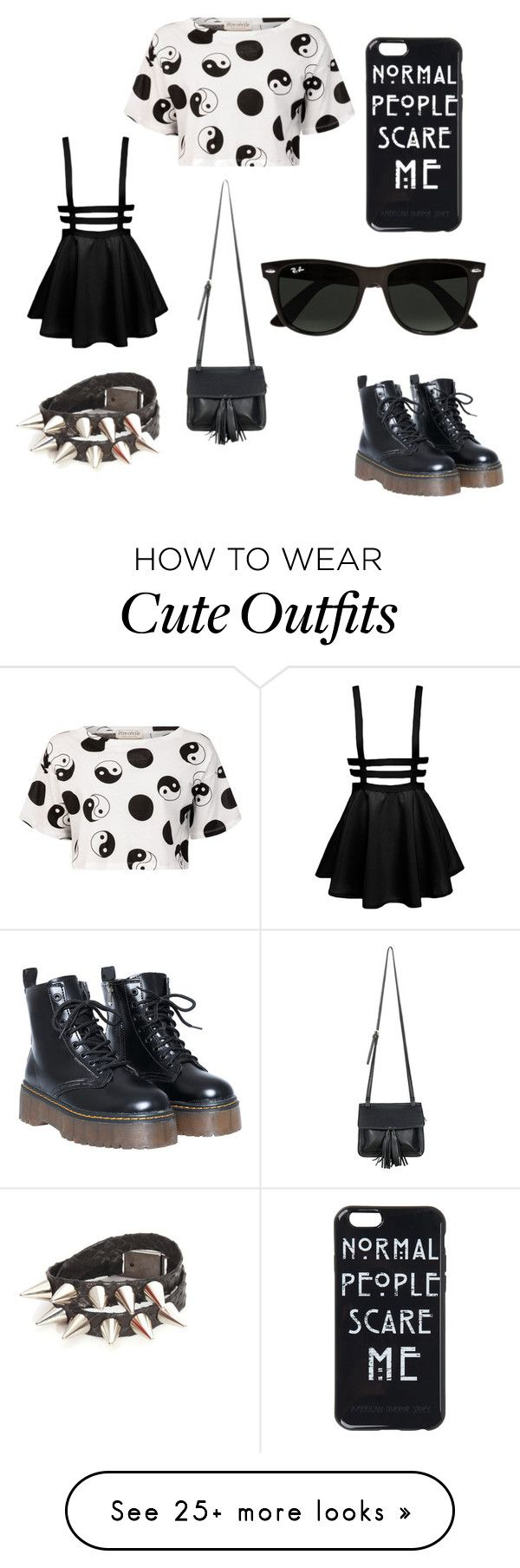 """""""My First Polyvore Outfit"""" by dinaragm on Polyvore featuring Être Cécile, Chicnova Fashion and Ray-Ban"""