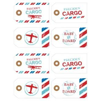 Baby Shower Ideas - Precious Cargo Vintage Travel Baby Shower Printables by ihearttoparty.com