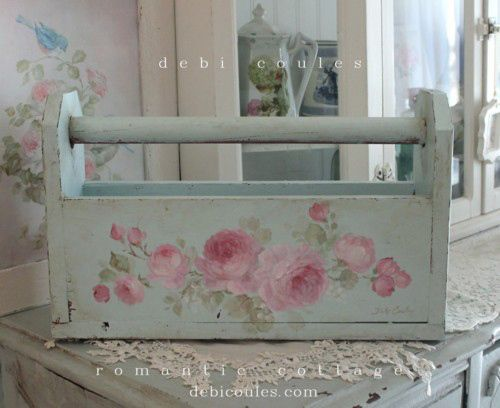Shabby Vintage Roses Tote - Debi Coules Romantic Art